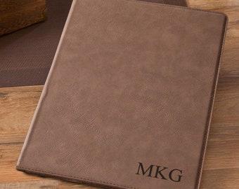 19ae401f684187 Personalized Monogram Mocha Portfolio - Christmas Gift - Birthday Gift