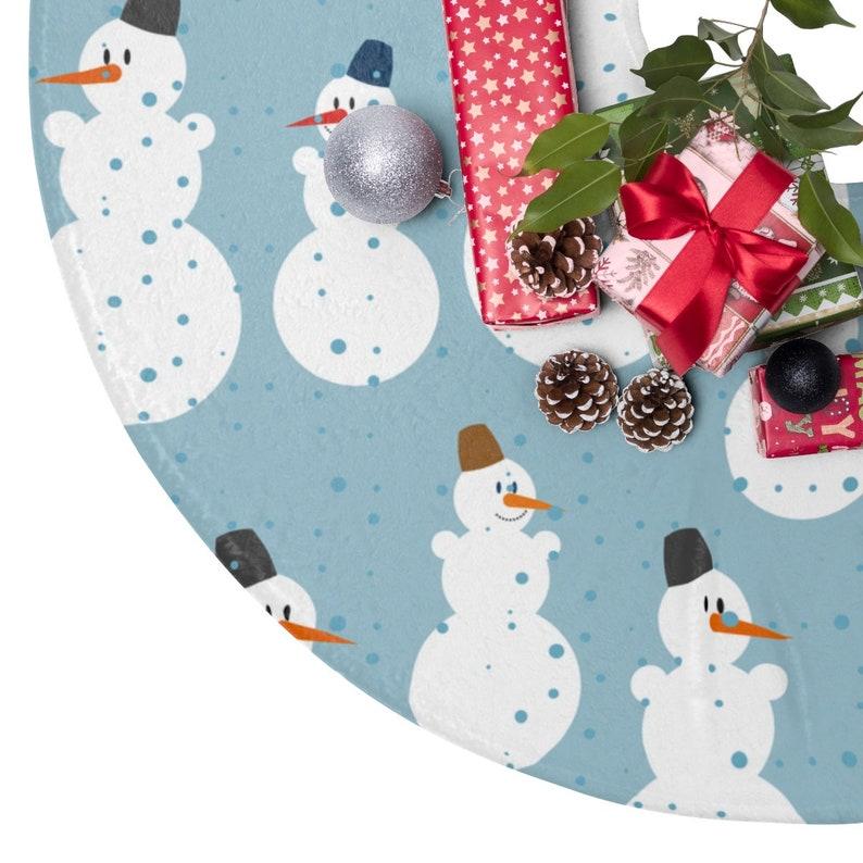 Snowman Decor Holiday Decor Cute Tree skirt Merry and Bright Snowman Christmas Tree Skirt Merry Christmas