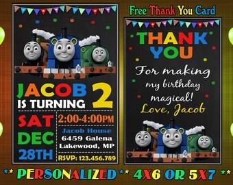 Thomas Train Birthday Invitation The
