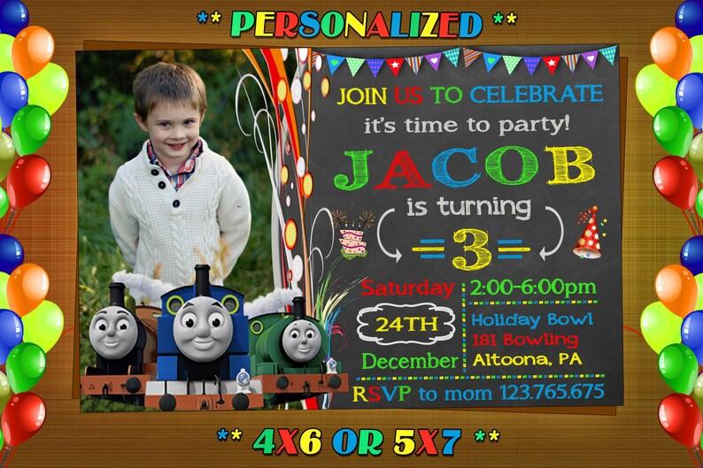 Thomas Train Birthday Invitation Thomas Train Invitation Etsy