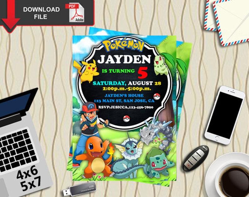 Pokemon Pokemon Birthday Pokemon Invitation Pokemon Party