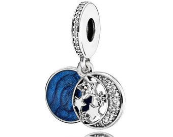 a48cc355f Pandora Vintage Night Sky Charm,Midnight ,Galaxy,valentine's Day,s925  Sterling Silver,Fully Stamped