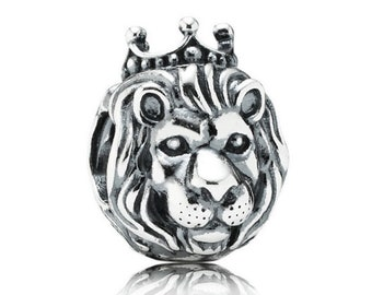 0da580515 Pandora Charms, Lion King of The Jungle Charm, Animal Charms,  Authentic,100% 925 Sterling Silver Fits to all Pandora Charm Bracelets
