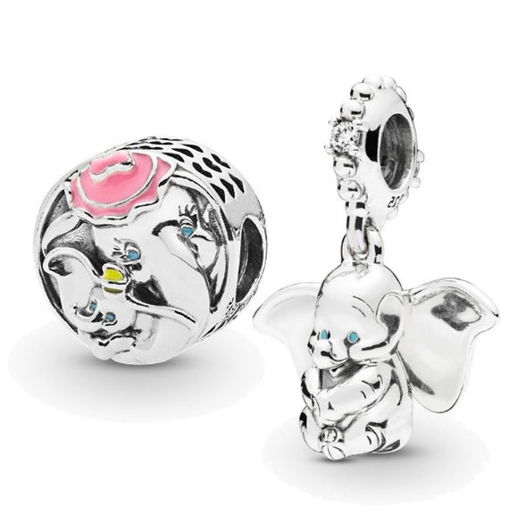 Pandora S925 Sterling Silver Disney Charms Dumbo & Mrs Jumbo | Etsy