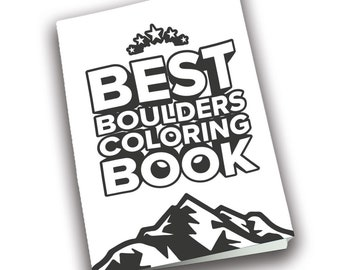 Coloring book for climbers PDF / Printable file