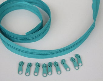 1.30 Euro/m zipper Endless turquoise 2 m/10 zipper