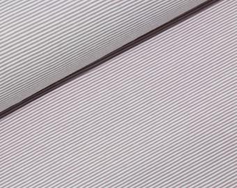 16.60 Euro/lfm cotton jersey stripe striped pink old pink white 50 x 150 cm by metre