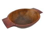Salem Collection Treenware Large 2 Handle Bowl Salem Rustic Farmhouse Primitive