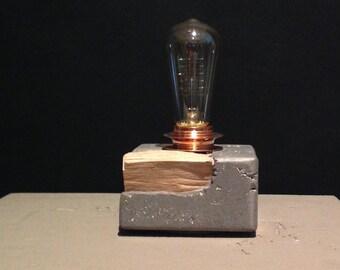 Lampada In Cemento Fai Da Te : Lampada in cemento etsy
