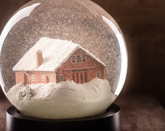 Custom Snowglobe - Your home in a Snowglobe!