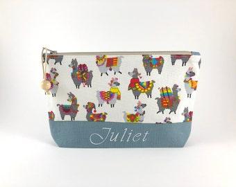 0cf74791beecac Alpaca Makeup Bag   Llama   Zipper Pouch   Cosmetic Bag   Personalized Gift  for Her