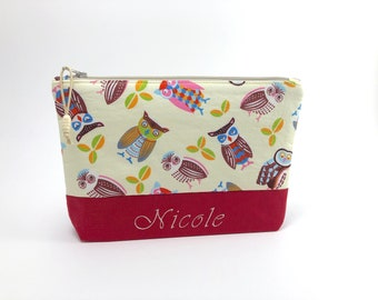 51492e76e9 Owls Makeup Bag   Zipper Pouch   Cosmetic Bag   Personalized Gift for Her