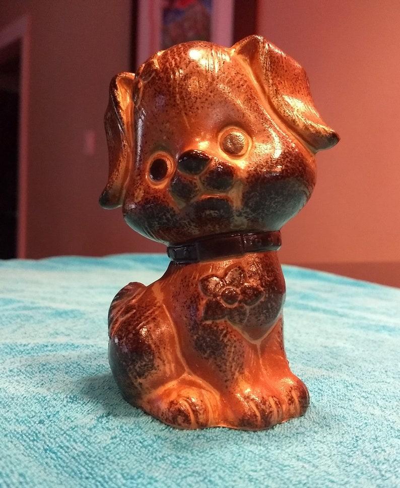 Vintage OMC Ceramic Dog Coin Bank \u2013 Made in Japan