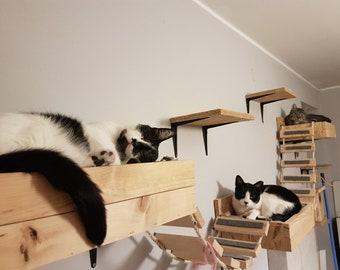 cat shelves etsy rh etsy com floating shelf for cats ikea floating shelves for cats