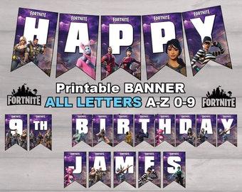 Fortnite Birthday Banner Etsy