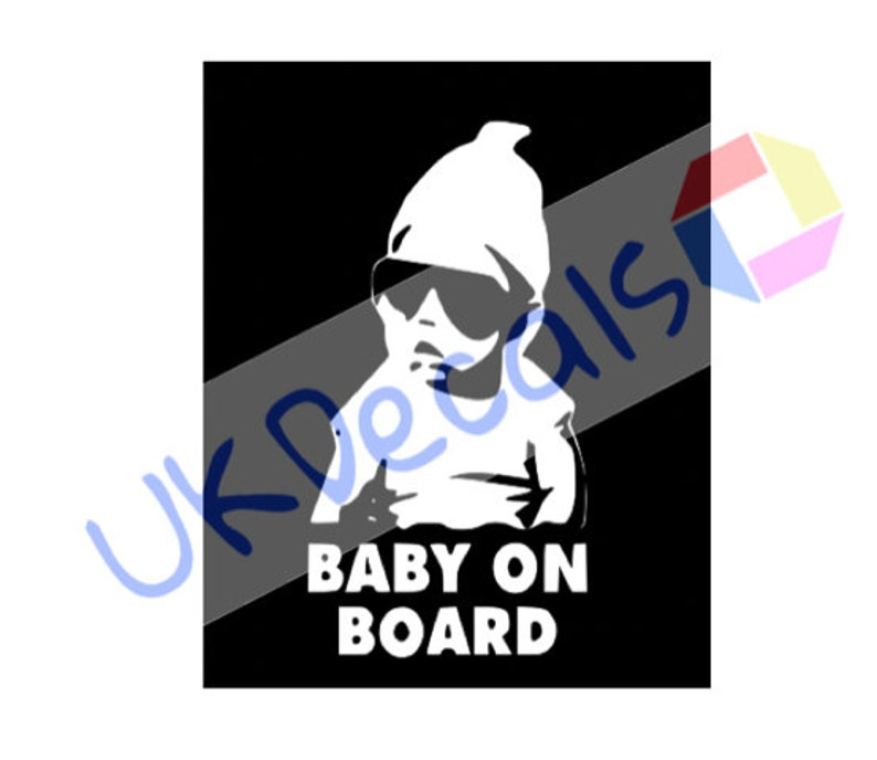 Baby On Board Funny Car Child Children Window Bumper Sticker Vinyl.