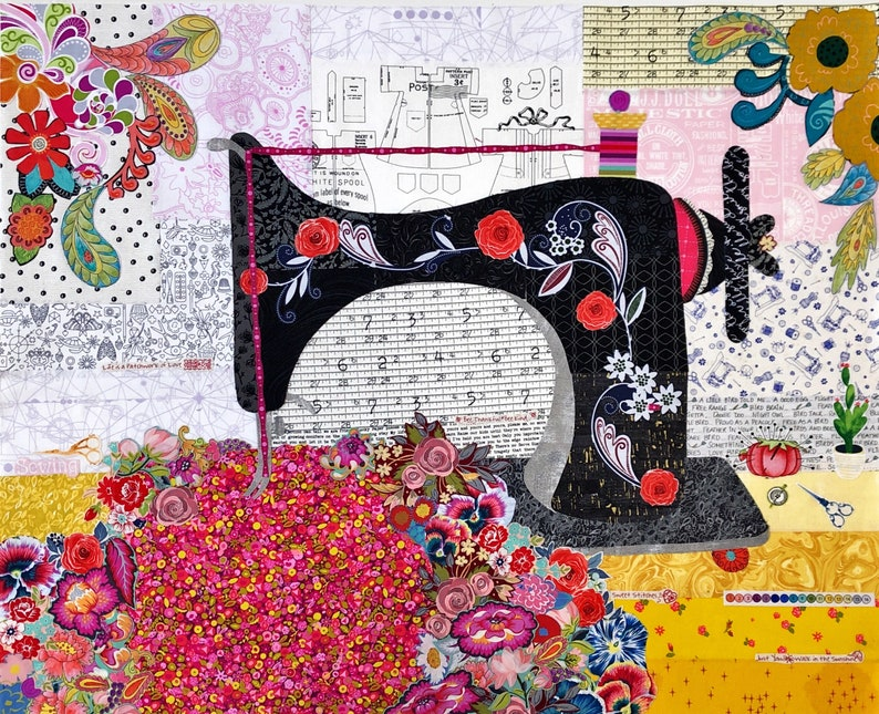 Featherweight Collage Kit by Doris Rice a Laura Heine image 0