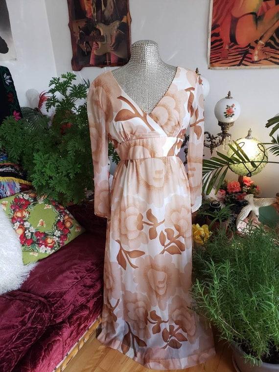 Malia of Honolulu chiffon 1960s Hawaiian couture … - image 7