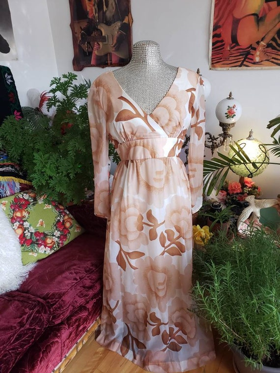 Malia of Honolulu chiffon 1960s Hawaiian couture … - image 6