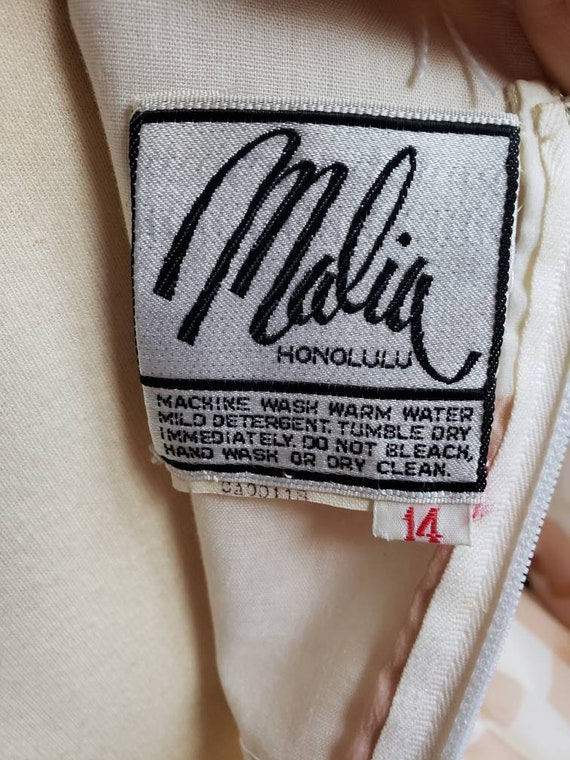 Malia of Honolulu chiffon 1960s Hawaiian couture … - image 2