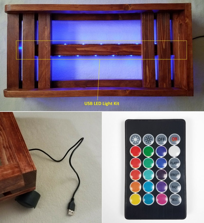 with LED Light Kit Ebony Gaming PC Case Stand For Desktop Computer Tower Geek Gifts Nerd Gifts For Boyfriend