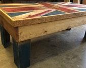 Union Jack Rustic Coffee Table