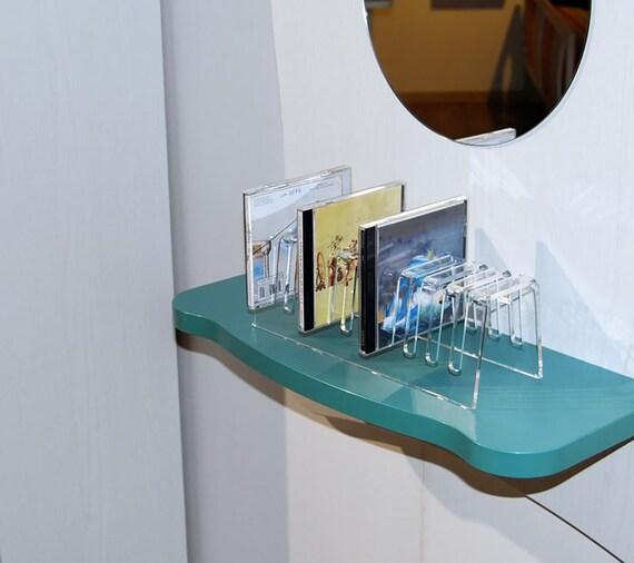 Porta Cd Design Moderno.Slato Porta Cd Da Tavolo Dal Design Moderno In Plexiglass Trasparente Sibelius Per 10 Dischi