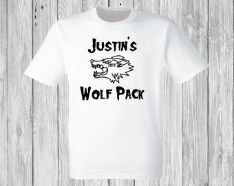 96484d9a09 Custom Wolf Pack Bachelor, Birthday, Event T-Shirts