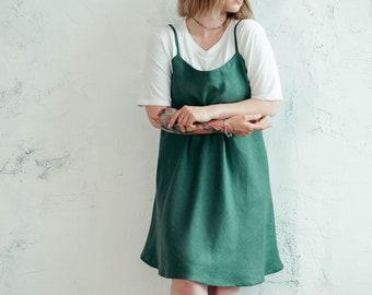 Linen Slip Dress, Linen Cami Dress, Basic Linen Dress, Strappy Linen Dress, Linen Night Gown, Linen Night Dress, Linen Skater Dress