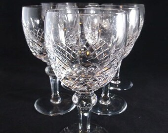 Princess Collection Lead Crystal 4 Goblets Wine Glass Hand Cut Austrian At Any Cost Other Bohemian/czech Art Glass