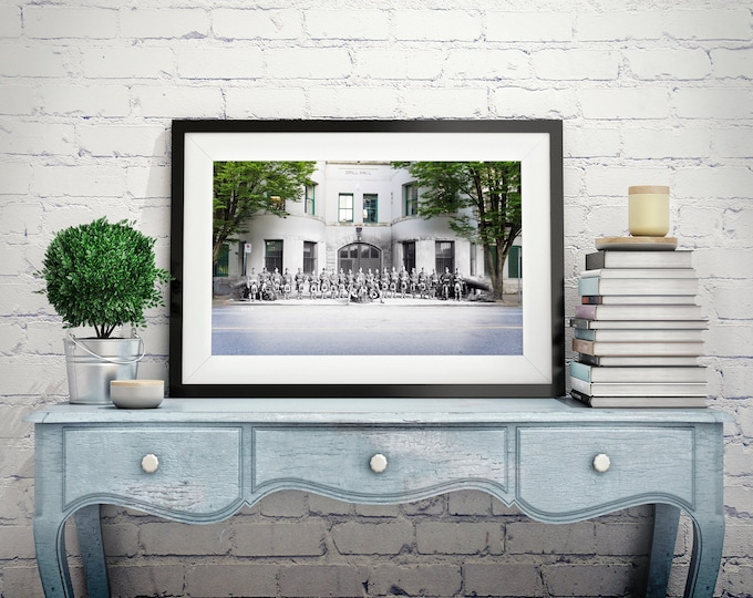 Downtown - Beatty St. Armoury | Vancouver 1912 & Now- Print #5 | Poster - Wall Art - Home Decor - Digital Print - Then/Now Photography
