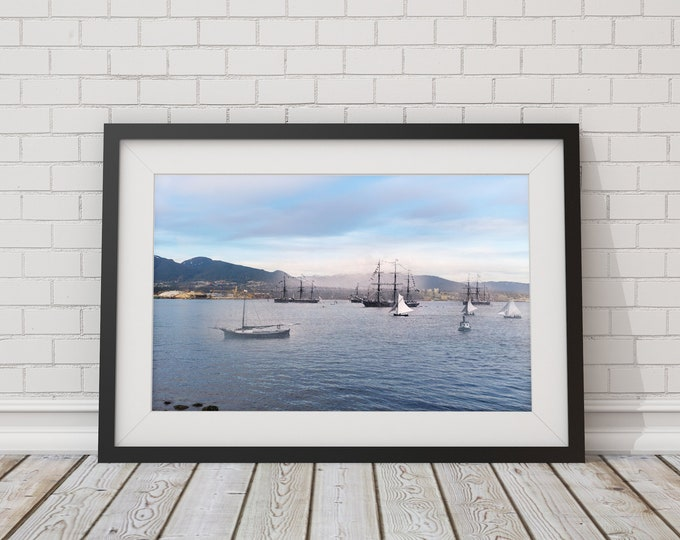 Burrard Inlet - Stanley Park | Vancouver 1889 & Now- Print #11 | Poster - Wall Art - Home Decor - Digital Print - Then/Now Photography