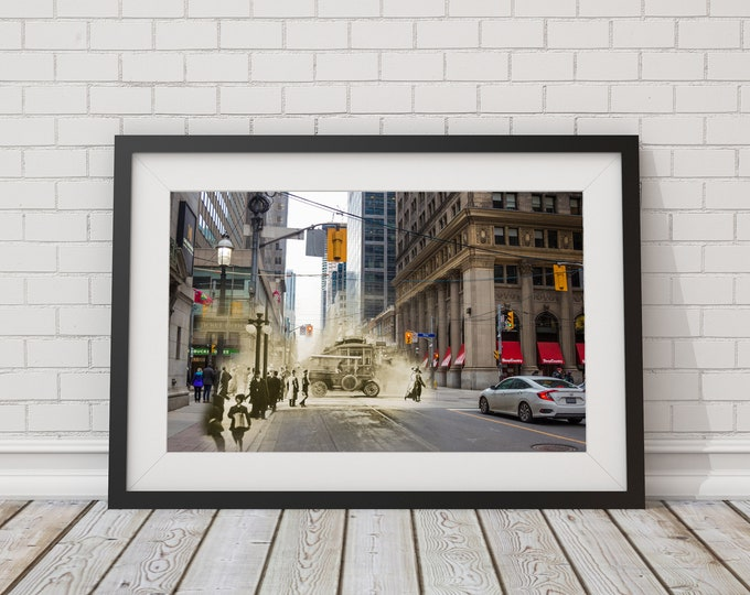 King Street | Toronto 1912 & Now - Print #2 | Poster - Wall Art - Home Decor - Digital Print - Then/Now Photography