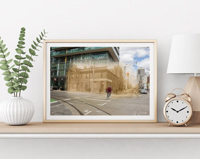Adelaide Street - Church Street | Toronto 1890 & Now - Print #5 | Poster - Wall Art - Home Decor - Digital Print - Then/Now Photography