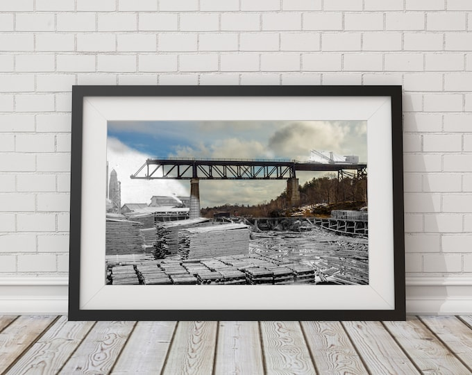 Railway Trestle | Parry Sound 1907 & Now - Print #9 | Poster - Wall Art - Home Decor - Digital Print - Then/Now Photography