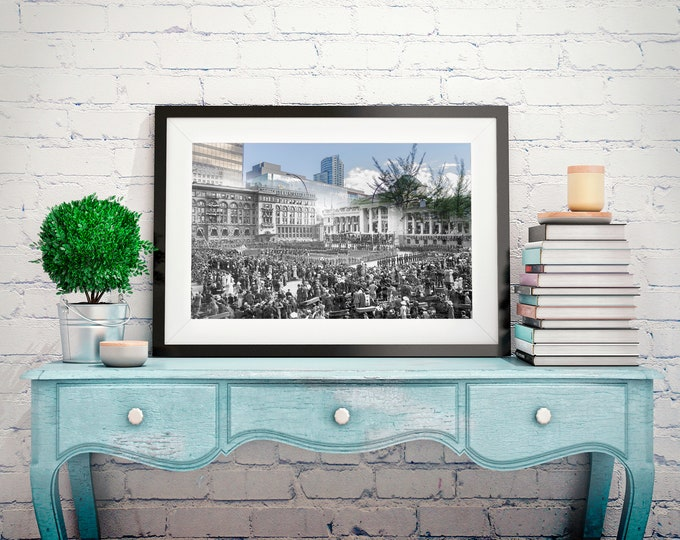 Downtown - Art Gallery | Vancouver 1912 & Now - Print #4 | Poster - Wall Art - Home Decor - Digital Print - Then/Now Photography
