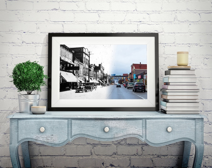 James Street | Parry Sound 1920s & Now - Print #7 | Poster - Wall Art - Home Decor - Digital Print - Then/Now Photography