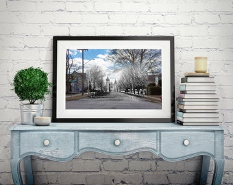 United Church - Yonge St. | Aurora 1900s & Now - Print #7 | Poster - Wall Art - Home Decor - Digital Print - Then/Now Photography