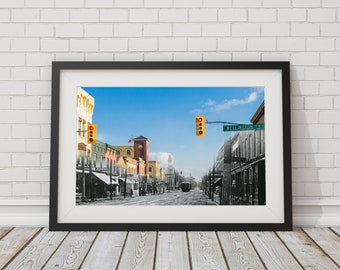 Yonge Street - Businesses | Aurora 1910 & Now - Print #6 | Poster - Wall Art - Home Decor - Digital Print - Then/Now Photography