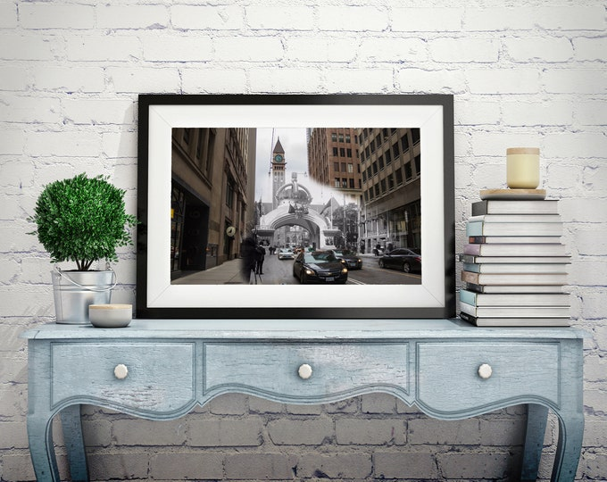 Bay Street | Toronto 1901 & Now - Print #7 | Poster - Wall Art - Home Decor - Digital Print - Then/Now Photography