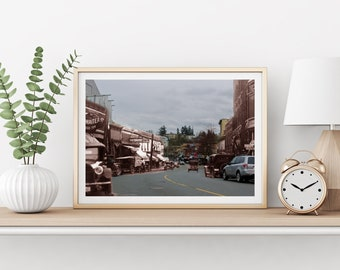 Commercial Street - Cars | Nanaimo 1930s & Now - Print #7 | Poster - Wall Art - Home Decor - Digital Print - Then/Now Photography