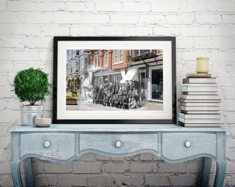 Yates Street - Gold Rush | Victoria 1898 & Now - Print #9 | Poster - Wall Art - Home Decor - Digital Print - Then/Now Photography
