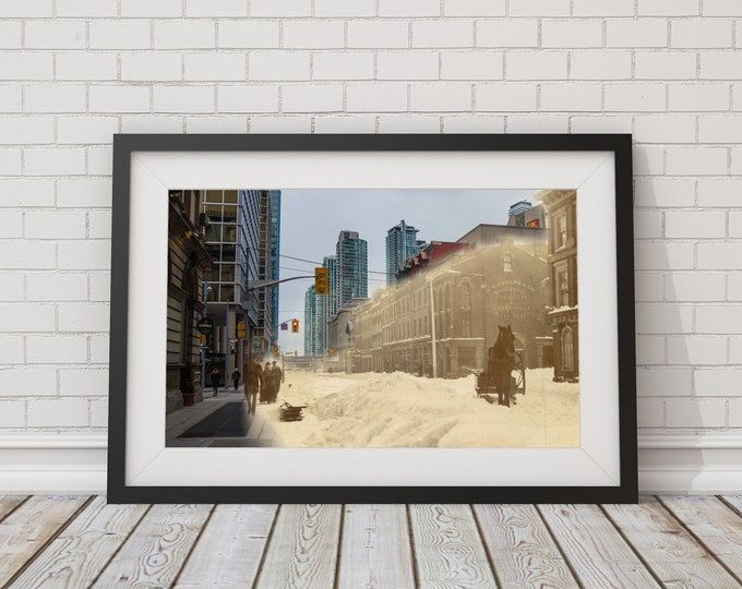 Yonge Street - King Street | Toronto 1870 & Now - Print #10 | Poster - Wall Art - Home Decor - Digital Print - Then/Now Photography