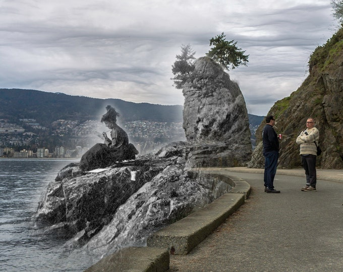 Stanley Park - Siwash Rock | Vancouver 1890s & Now - Print #38 | Poster - Wall Art - Home Decor - Digital Print - Then/Now Photography