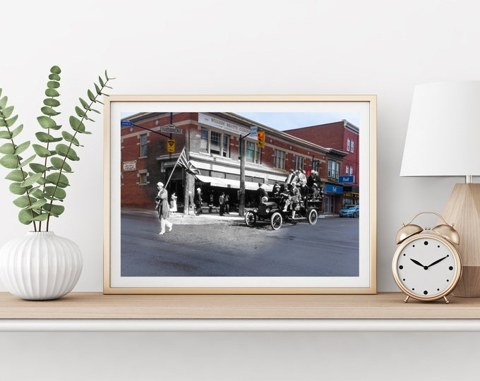 Parade - James Street | Parry Sound 1920s & Now - Print #5 | Poster - Wall Art - Home Decor - Digital Print - Then/Now Photography