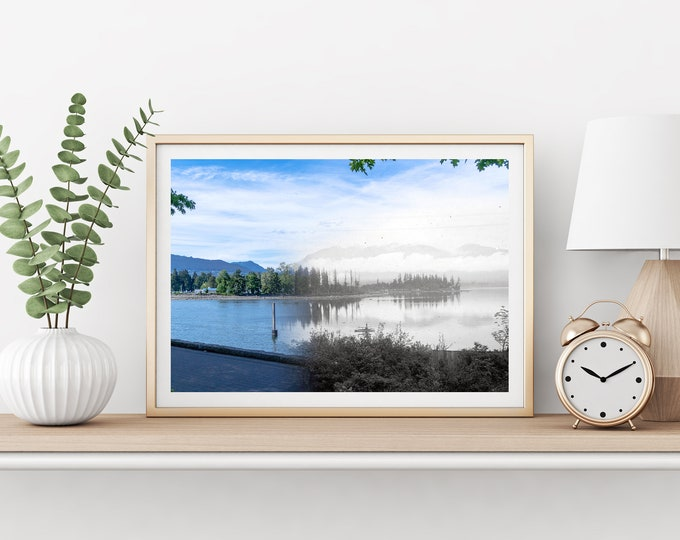 Stanley Park - Deadman's Island | Vancouver 1898 & Now - Print - #13 | Poster - Wall Art - Home Decor - Digital Print - Then/Now Photography