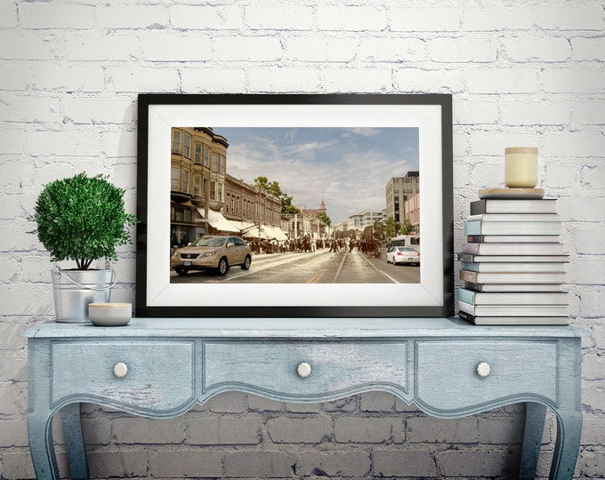 Douglas Street - Yates Street | Victoria 1894 & Now - Print #3 | Poster - Wall Art - Home Decor - Digital Print - Then/Now Photography