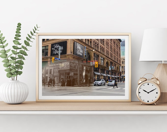 Cathedral - Church Street | Toronto 1880 & Now - Print #16 | Poster - Wall Art - Home Decor - Digital Print - Then/Now Photography