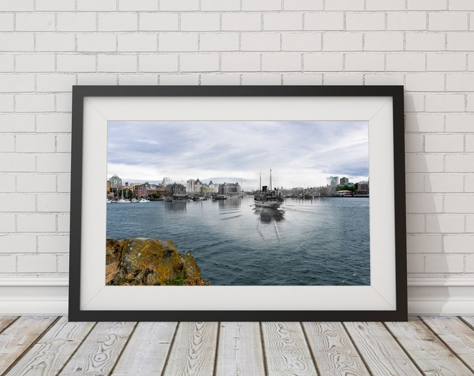 Beautiful Victoria Inner Harbour | 1908 & Now | Poster - Wall Art - Home Decor - Digital Print - Then/Now Photography