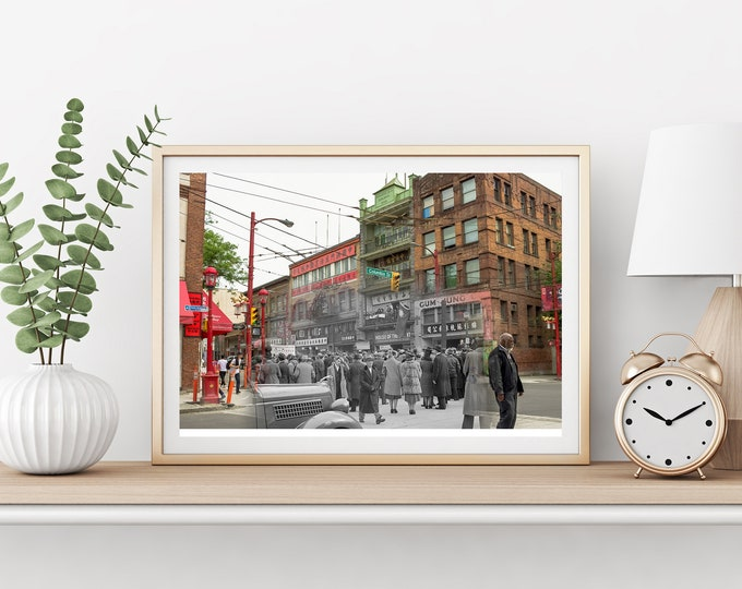 Chinatown - Pender St. | Vancouver 1939 & Now - Print #27 | Poster - Wall Art - Home Decor - Digital Print - Then/Now Photography